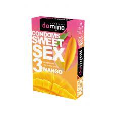 Оральные презервативы DOMINO  SWEETSEX с ароматом манго 3шт