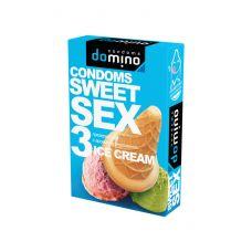 Оральные презервативы DOMINO  SWEETSEX с ароматом мороженого 3шт