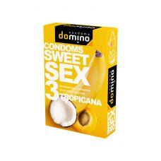 Оральные презервативы DOMINO  SWEETSEX с ароматом тропических фруктов 3шт