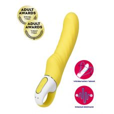 Ярко-желтый вибратор Satisfyer Vibes Yummy Sunshine для точки G