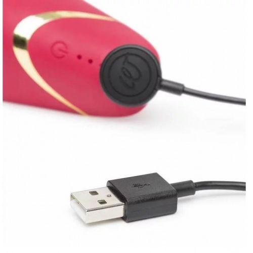 Бесконтактный клиторальный стимулятор Womanizer Premium красный