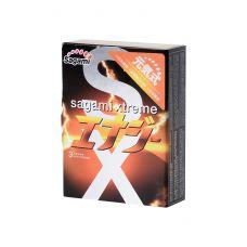 Презервативы латексные Sagami Xtreme Energy ультратонкие 3шт