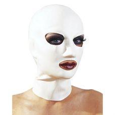 Белая маска из латекса женская..