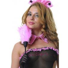 Щеточка горничной розовая..