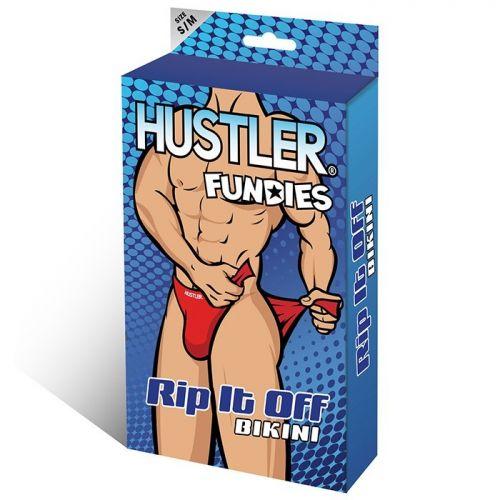 Классические красные трусы Hustler Fundies на двух липучках SM