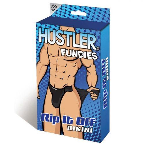Классические черные трусы Hustler Fundies на двух липучках SM