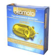Черные увеличенные презервативы Okam..