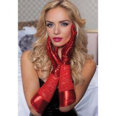 Красные комбинированные перчатки до ..