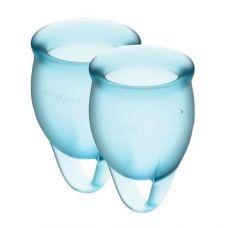 Набор менструальных чаш Satisfyer Feel Confident, голубой