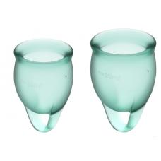Набор менструальных чаш Satisfyer Feel Confident, зеленый