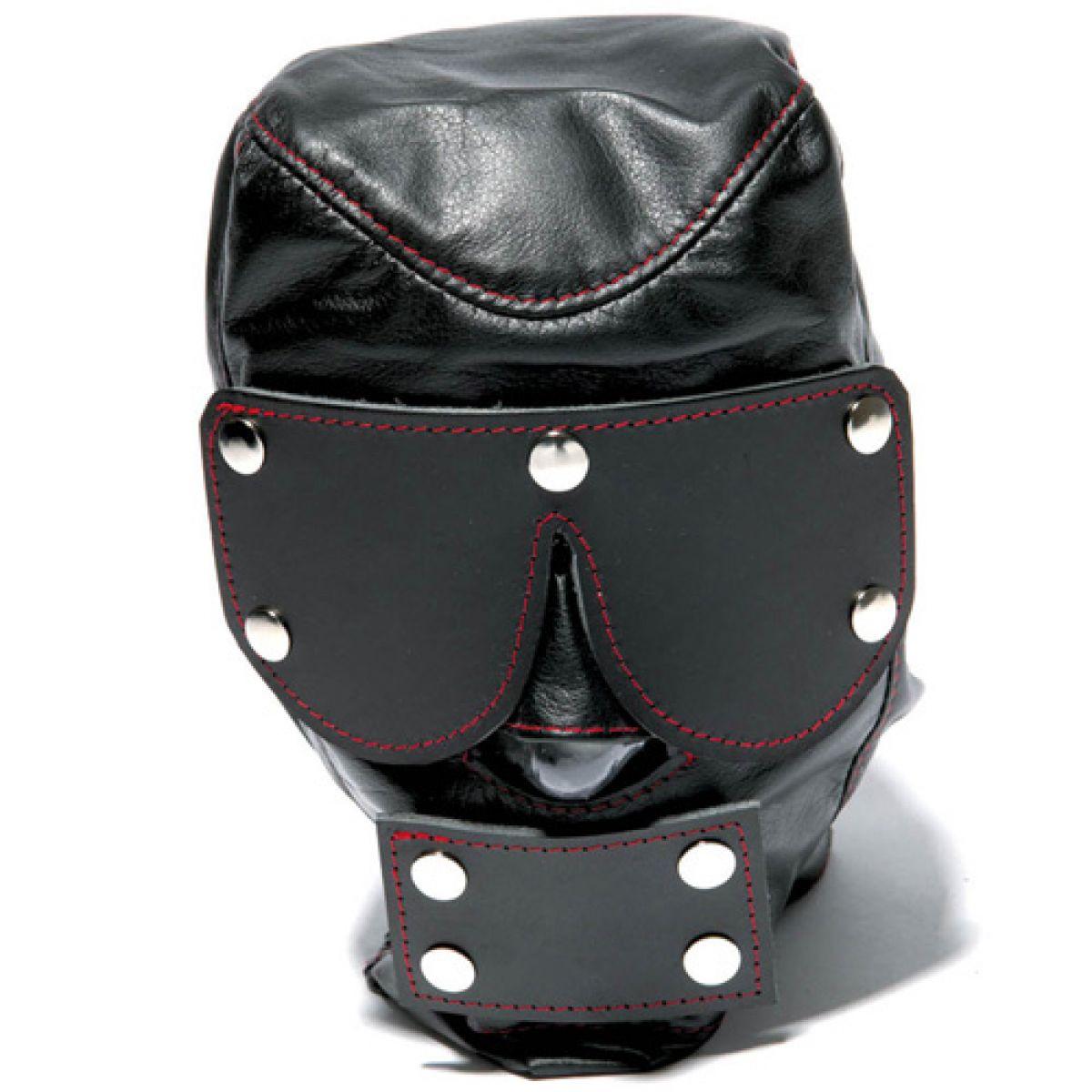 Черная маска с шорами на глаза и рот