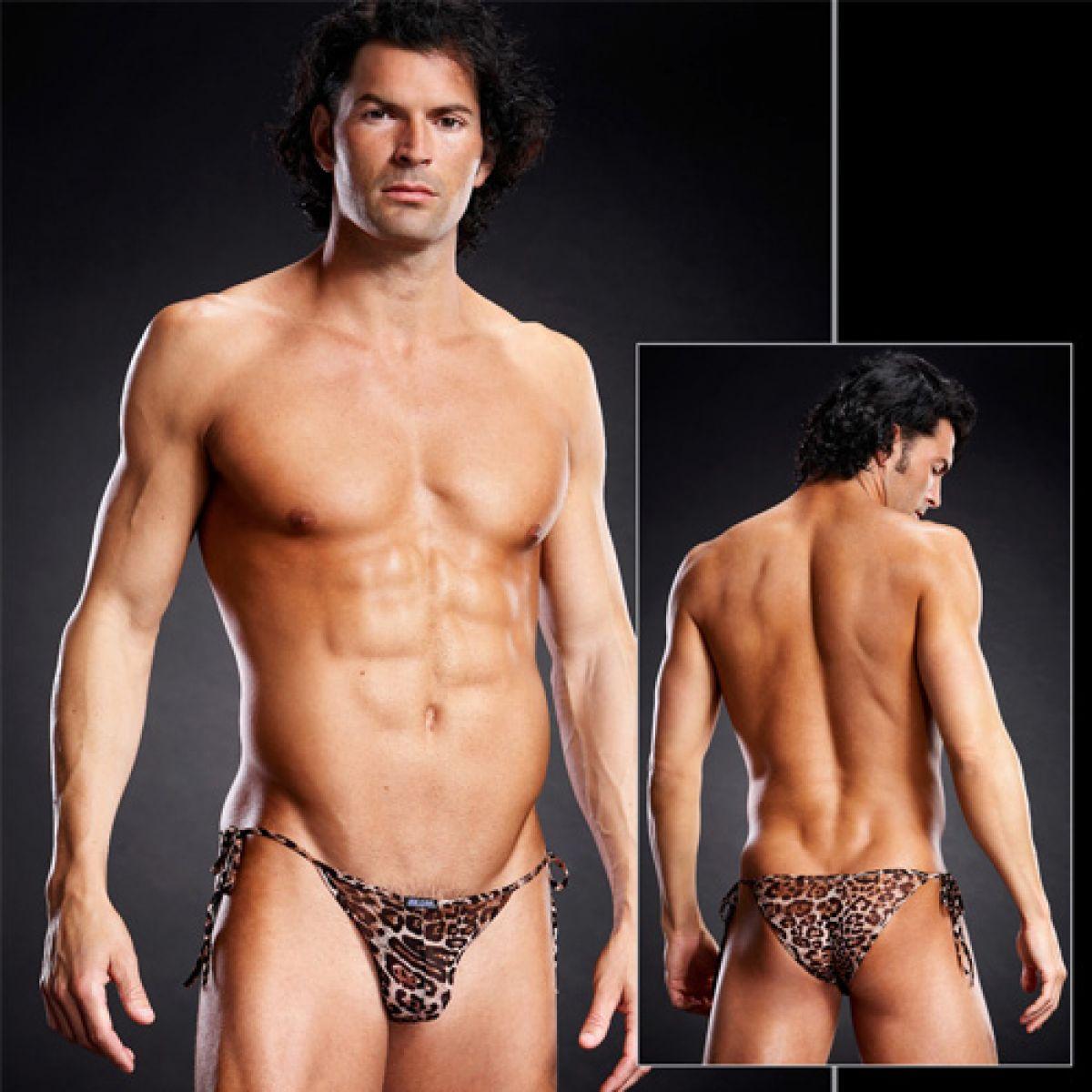 Леопардовые мужские side-tie бикини S/M