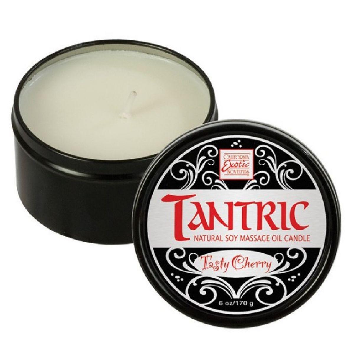 Массажная свеча с феромонами аромат вишни Tantric Tasty Cherry