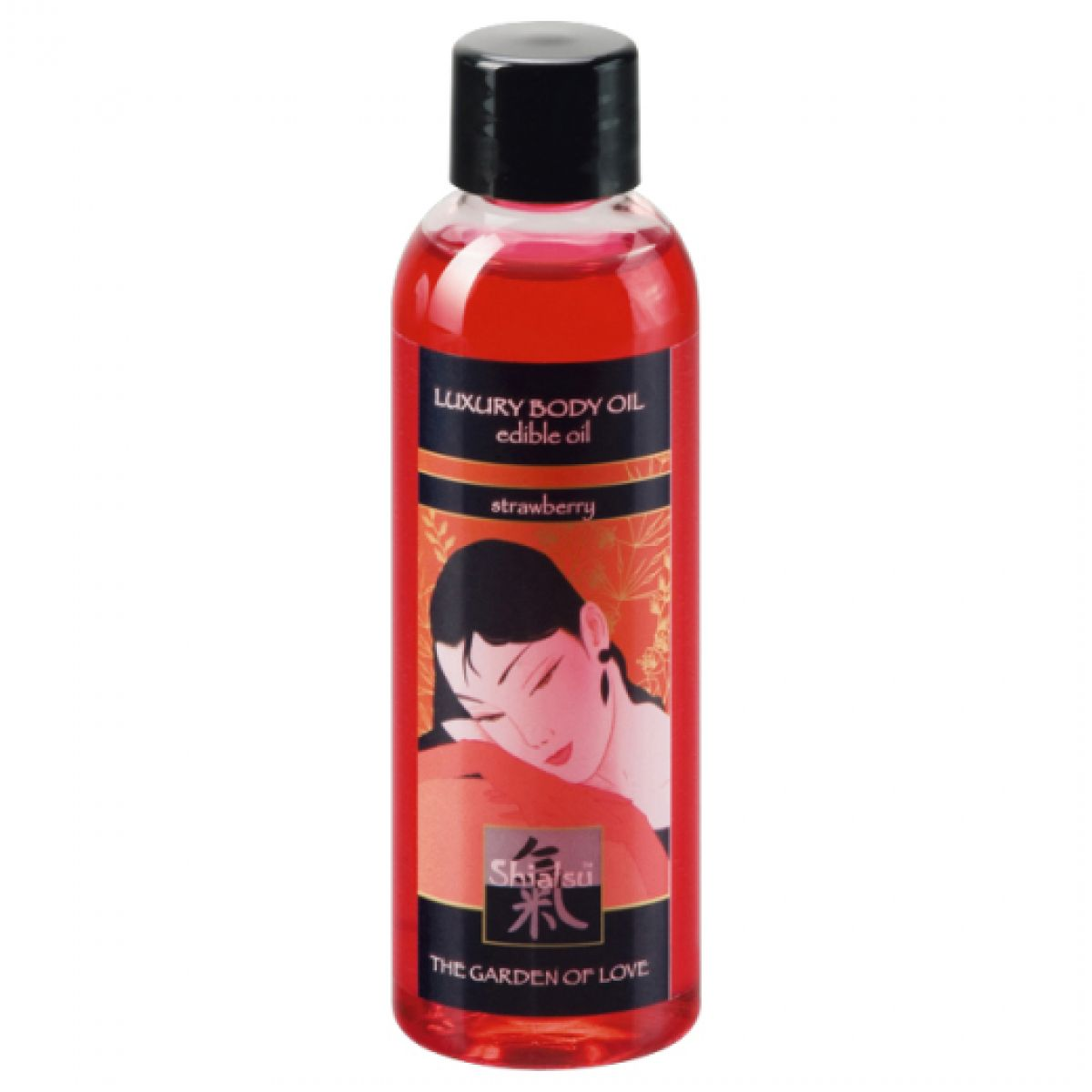 Съедобное масло для тела с ароматом Клубники 100 мл Shiatsu