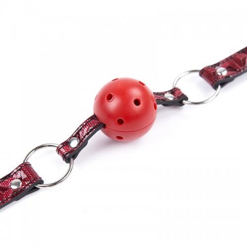 Дизайнерский кляп черно-красный
