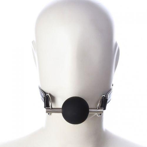 Черный кляп-шар из медицинского силикона