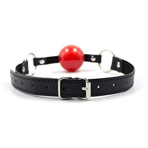 Красный силиконовый кляп-шар