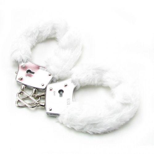 Наручники с мехом FF Beginner s Furry Cuffs-White