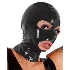 Латексная маска для головы черная..
