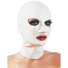 Белая латексная маска для головы..