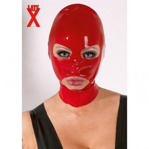 Красная маска из латекса женская