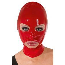 Красная маска из латекса женская..