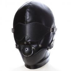 Бондажный шлем с кляпом..