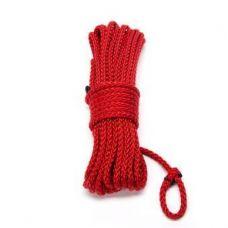 Бондажная нейлоновая веревка красная..