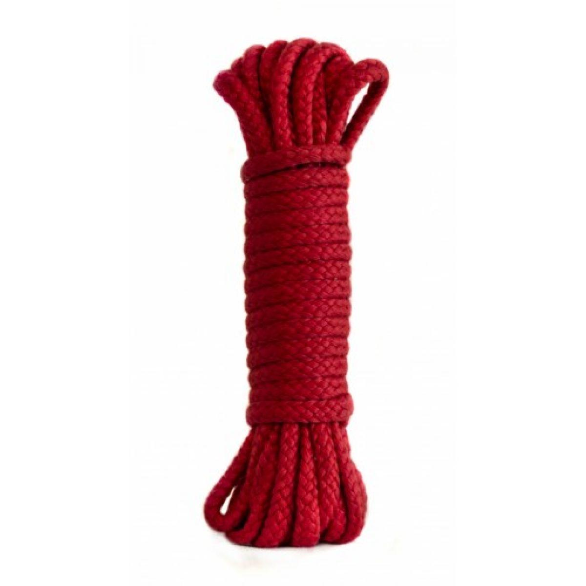 Бондажная нейлоновая веревка красная  10 метров