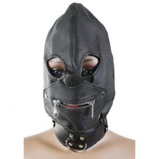 Бондажный шлем с замком..