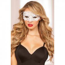 Ажурная белая маска на глаза..