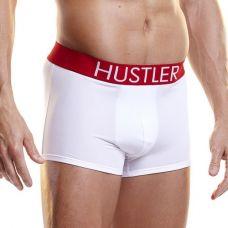 Белые мужские боксеры Hustler на широкой резинке из ми..