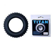 Эреционное кольцо Titan с ребрышками..