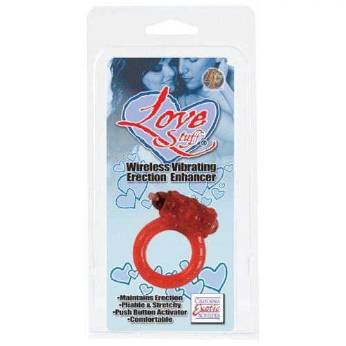 Красное кольцо на пенис Love Stuff