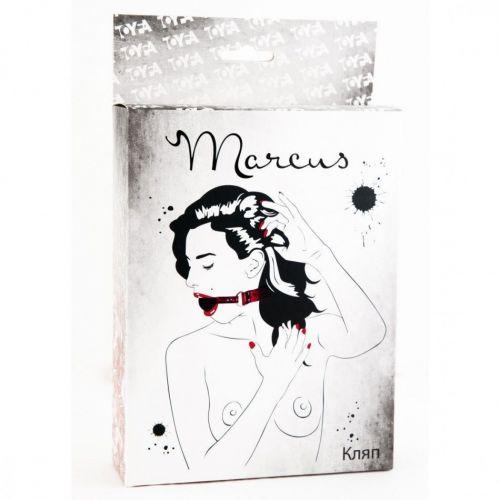 Кляп с кружевным красным ремешком Marcus + подарок