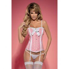 Розовый корсет и трусики Dottie L/XL..