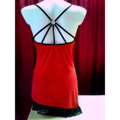 Красная сорочка Cora L/XL