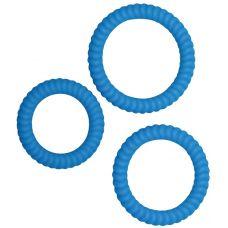 Набор эрекционных колец Lust 3 Blue ..