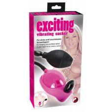 Вакуумная вагинальная помпа с вибрацией Pink