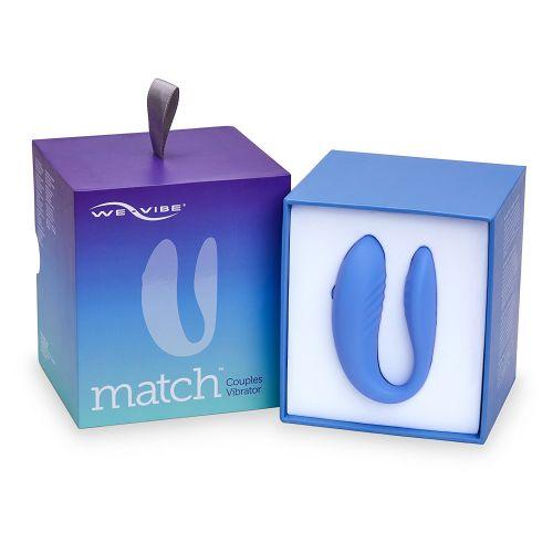 We-Vibe Match Вибромассажер голубой для пар с дистанционным пультом