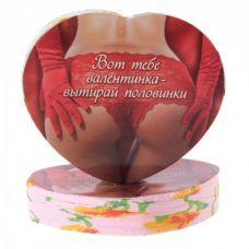 Полотенце прессованное Сердце-валентинка интим..