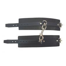 Черные наручники Hand Made из натура..