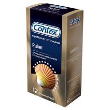 Презервативы Contex №12 Relief с ребрами и точками..