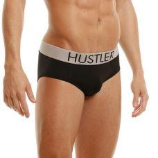 Черные мужские брифы Hustler на широкой резинке из мик..
