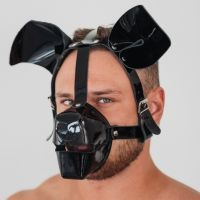 Маска собаки лакированная