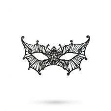 Черная маска паутинка..