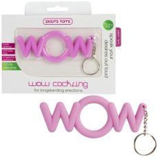 Эрекционное розовое кольцо-брелок Wo..