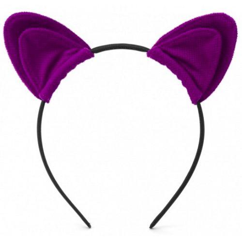 Ободок с ушками My rules фиолетовый