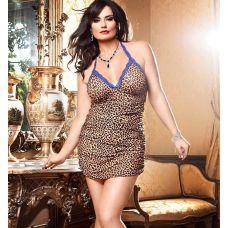 Эротическое мини-платье с леопардовы..