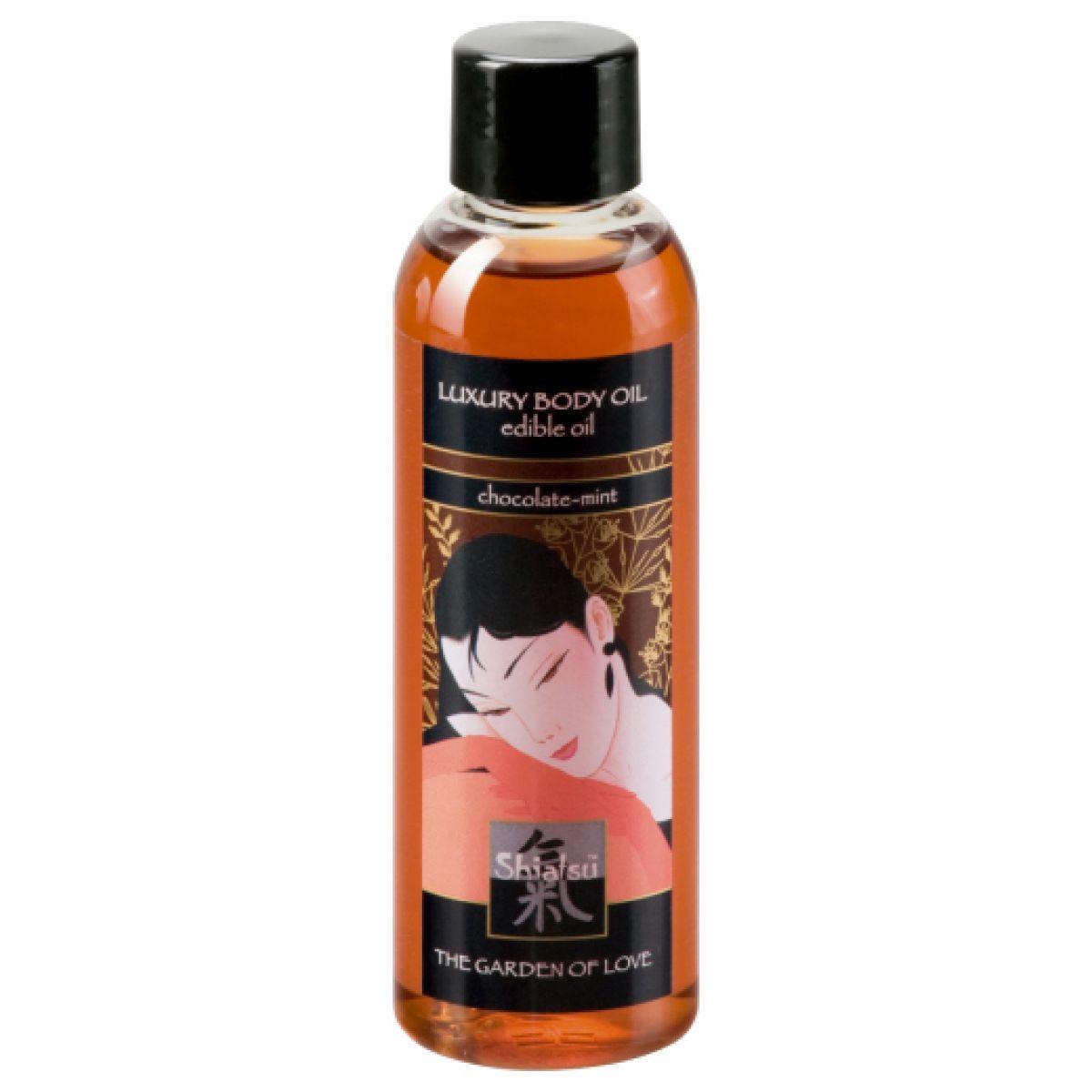Съедобное масло для тела с шоколадно-мятным ароматом 100 мл Shiatsu